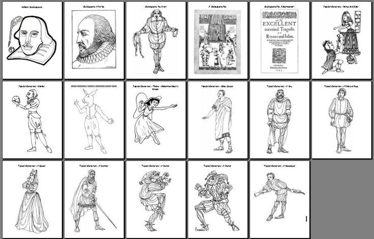 coloring pages shakespeare - photo#31