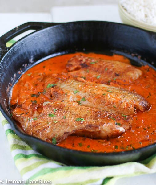 Fish fillet in cream sauce seafood recipes pinterest for Fish fillet sauce