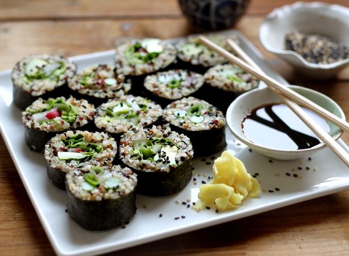 Quinoa sushi | Recipes | Pinterest