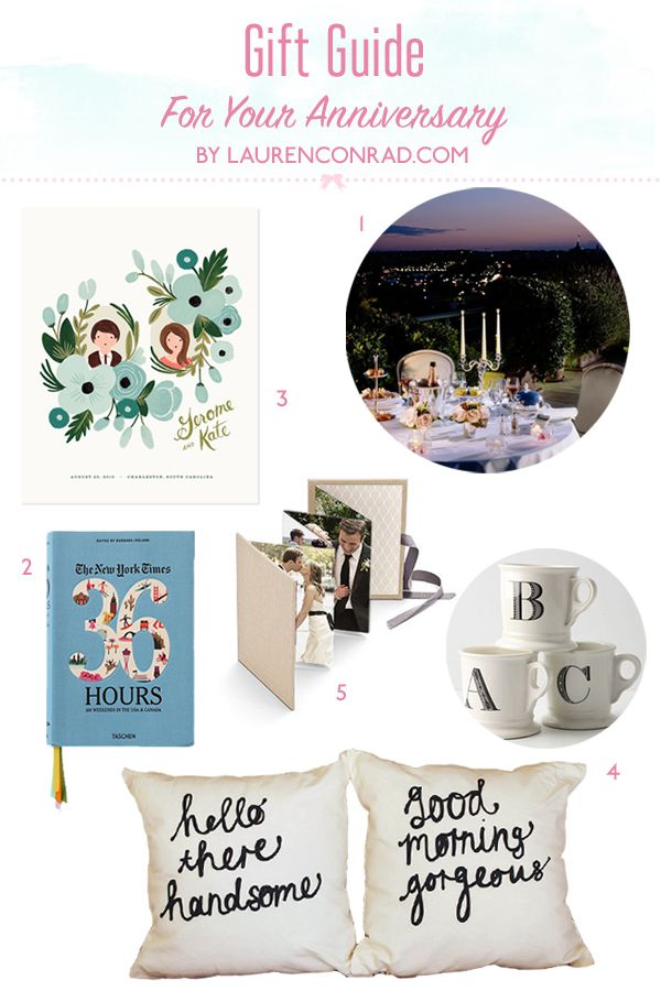 Great Wedding Anniversary Gift For Husband : Gift Guide: Anniversary Gift Ideas