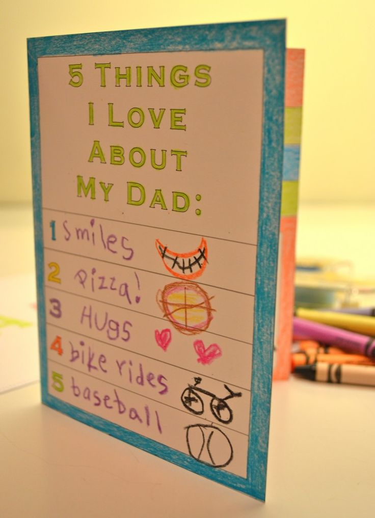Free, Printable Father's Day Card for Kids! #fathersday - perfect for the theme we are doing this year!! #onethousandgifts