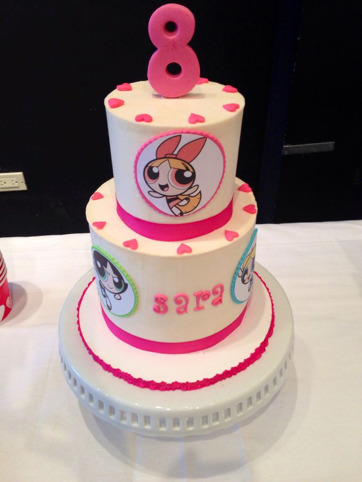 Power puff girls tiered birthday cake!