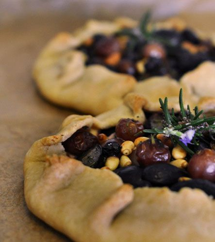 Goat cheese, honey, pine nuts, grape galettes from the Kitchn.