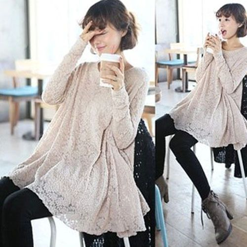 Maternity Lace Dresses Clothes For Pregnant Women Spring Clothing Long