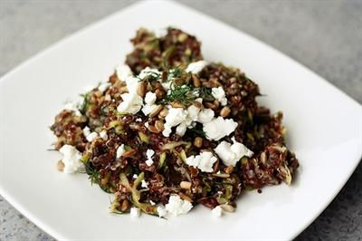 ... : Red Quinoa Salad with Currants, Dill, Zucchini and Sunflower Seeds
