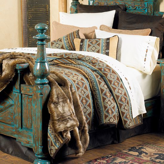Canyon crest western bedding collection cabin bedding for Crest home designs bedding