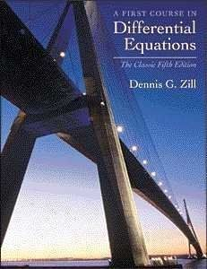 First Course in Differential Equations: The Classic Fifth Edition by ...