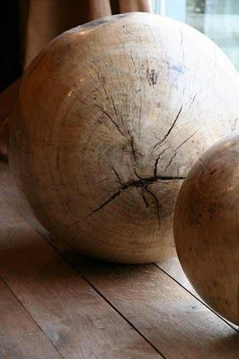 large wooden orbs.....peak interest in any space....they just do....
