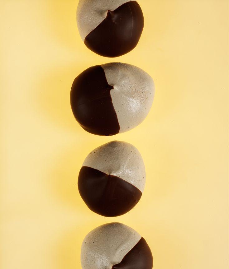 Chocolate-Dipped Espresso Meringues - Gluten Free dessert (cookies ...