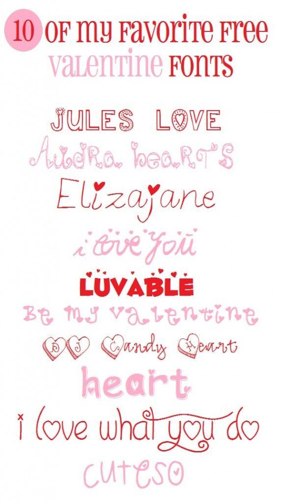valentine fonts free