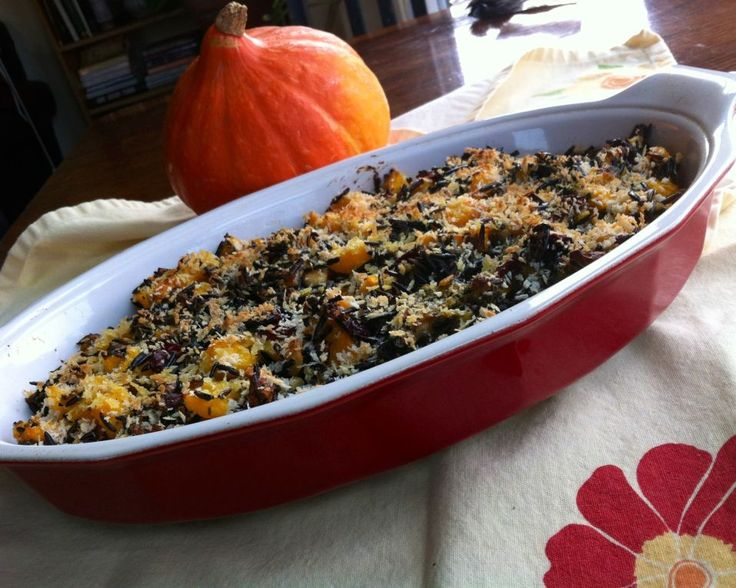 Wild Rice Gratin With Red Kuri Squash, Cranberries, And Hazelnuts ...
