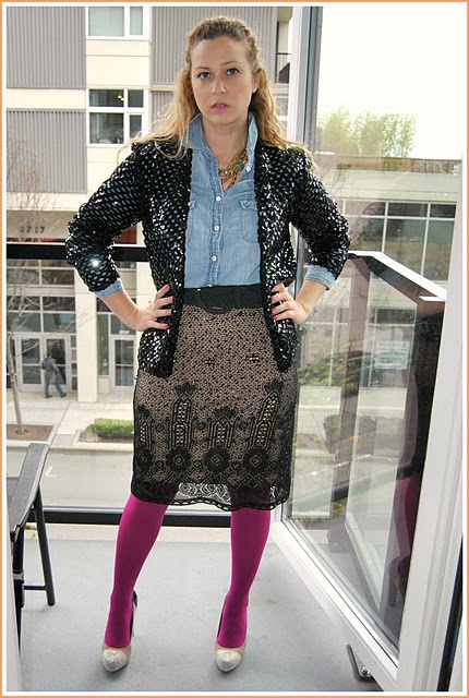 sequins and tights