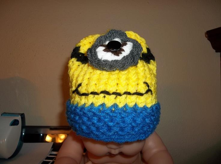 Infant Minion Hat. Loom Knit By Me. Loom Patterns Pinterest