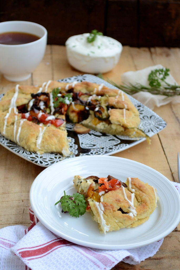 Roasted Vegetable and Ricotta Cheese galette Whisk Affair