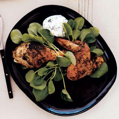 Grilled Coriander-Cumin Chicken with Cilantro-Yogurt Dipping Sauce I ...