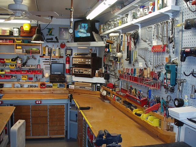 Workshop garage pinterest for Home garage shop