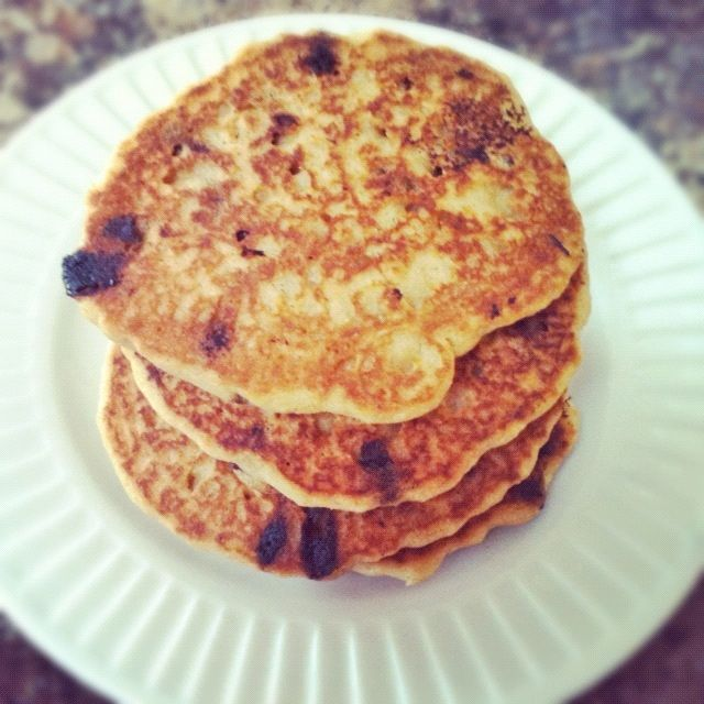 Best Ever Gluten-Free Chocolate Chip Pancakes - The Fit Cookie