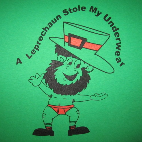 Leprechaun Stole My Underwear Funny Green Irish St Patricks Day Paddys T Shirt | eBay