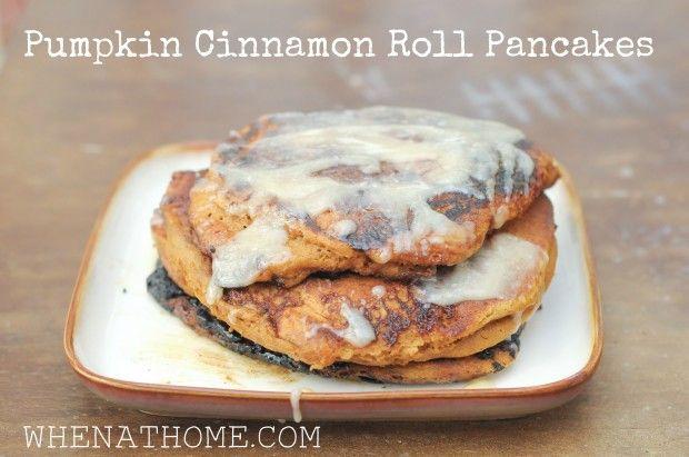 pumpkin cinnamon roll pancakes | Breakfast | Pinterest