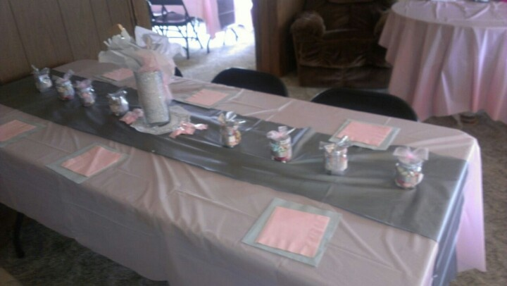 silver and pink baby shower baby shower ideas pinterest