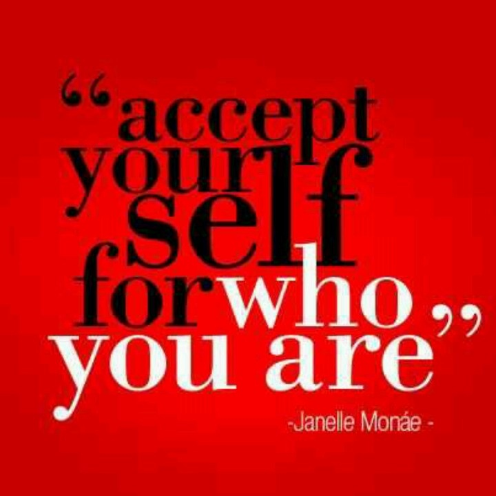 Accept yourself QUOTES Pinterest