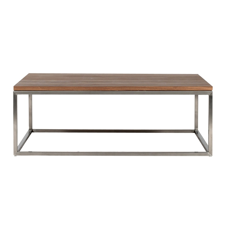 Coffee Table Metal Legs Wood Top Espacio De Trabajo Pinterest