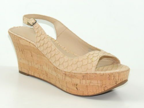 Via spiga 39 ebony 39 women 39 s shoes cappuccino fish leather for Platform shoes with fish