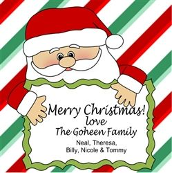 Christmas Santa Personalized Gift Tag
