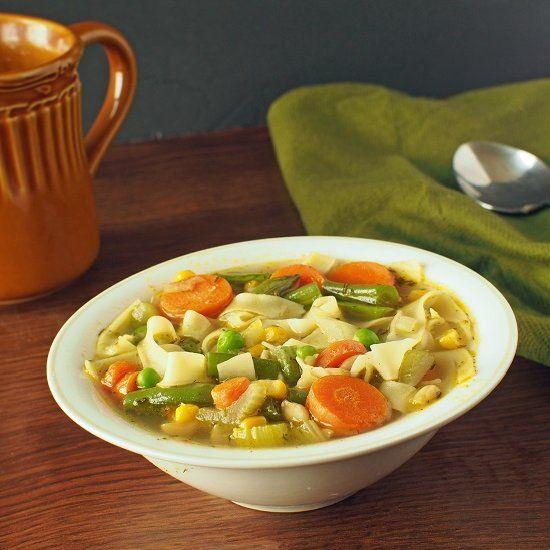 vegan take on chicken noodle soup. | vegetarian/vegan | Pinterest