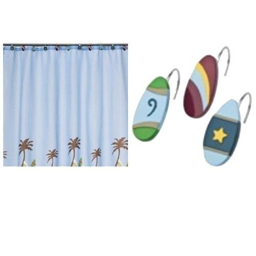 Tiddliwinks Surfs up -Shower Curtain & Shower Rings Bathroom?