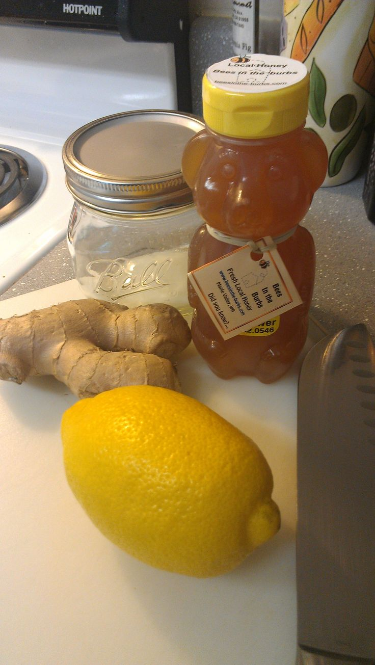 Honey ginger lemon sore throat tea | For the commen cold | Pinterest