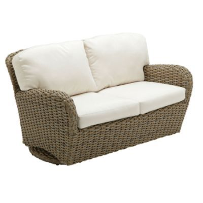 Sunset Deep Outdoor Seating Outdoor Loveseat Outdoor Glider With Cush