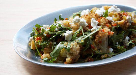Cauliflower Salad with Pickled-Pepper Relish and Lemon Vinaigrette