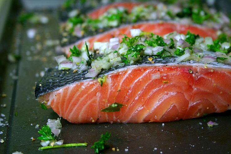 Slow Roasted Salmon with Herbs | MMMMMMMMMM.....Yum! | Pinterest