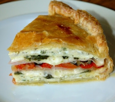 Herb Omelet Torte- Love this. I like to substitute mushrooms for the ...