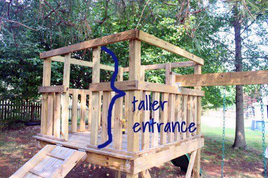 Viewalongtheway Backyard : Simply wooden playhouse  kids  Pinterest