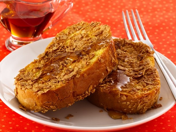... like using the Orange Juice in the batter. Crunchy French Toast