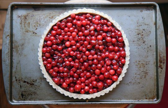 Cranberry Tart with Hazelnut Crust