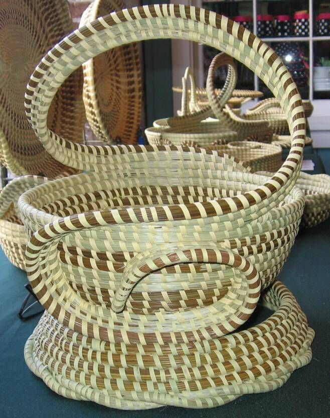 Handmade Baskets In Charleston : Sweet grass baskets large