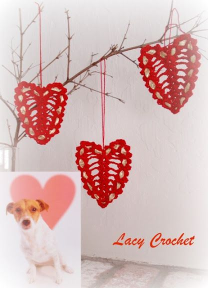 Crocheting For Valentines Day : Lacy Crochet: Crochet Hearts for Valentine?s Day