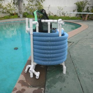 Pvc pool hose reel the great outdoors pinterest for Above ground pool reel ideas