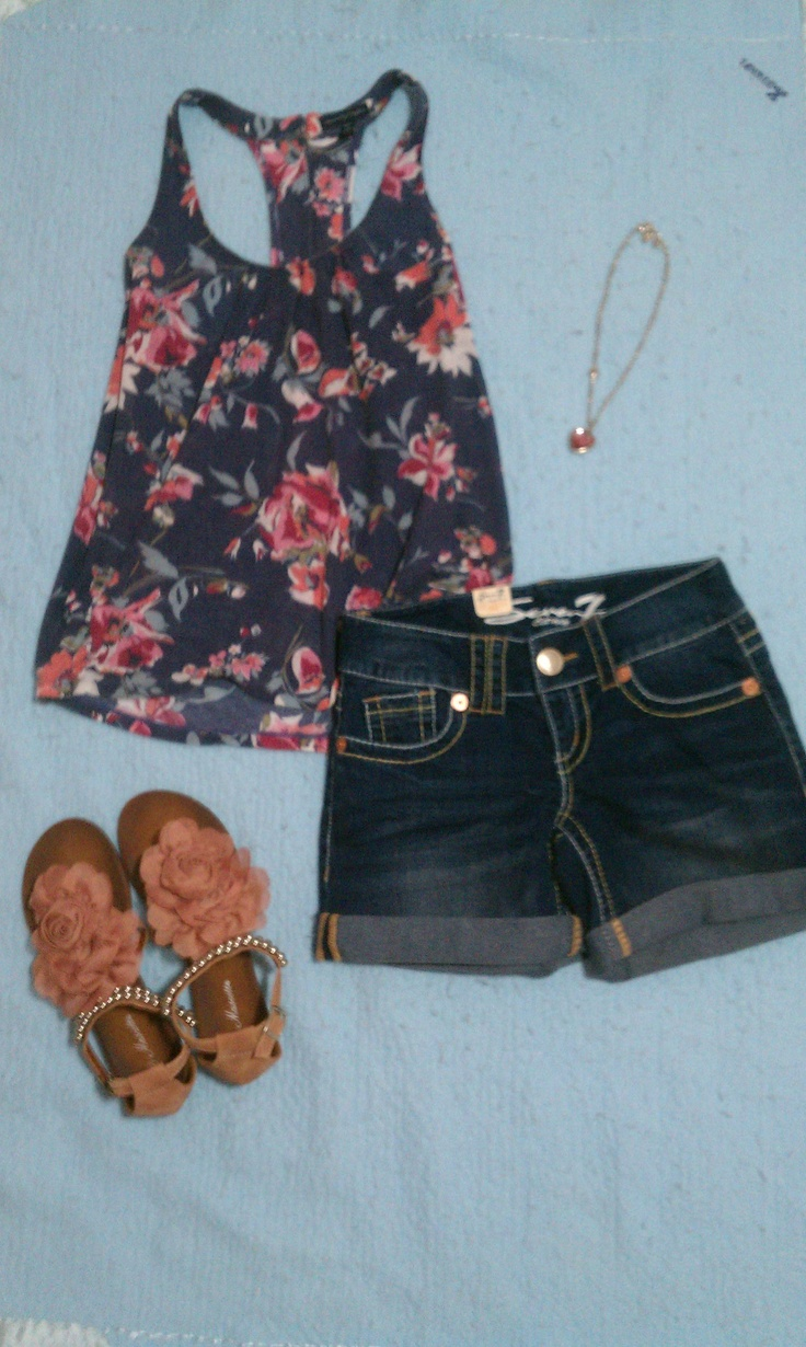 Flowy Summer! Shirt from American Eagle; Shorts from TJ Maxx; Necklace from Burlington; and shoes from Monkey Bizness!