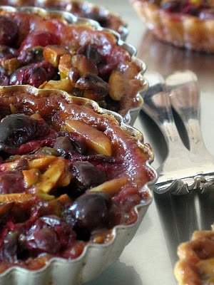 Cranberry Nut Caramel Tarts ... Cranberries, pistachios, almonds all ...