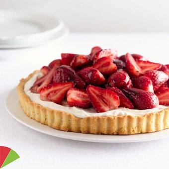 Strawberry mascarpone tart with port glaze   Photo: CN Digital Studio