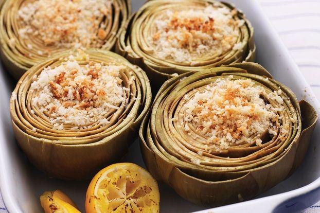 Baked Stuffed #Artichokes Recipe | Supper Club! | Pinterest