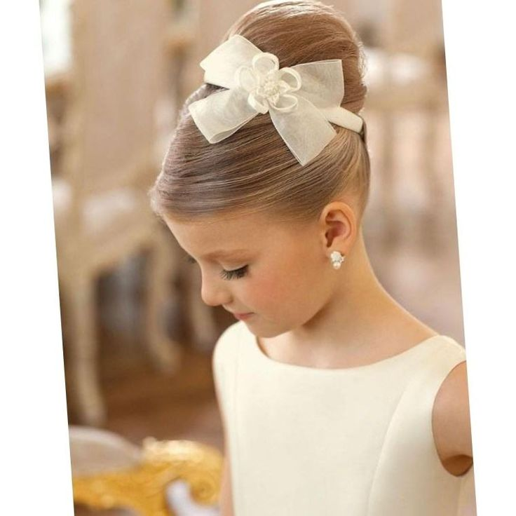 Причёски для девочек на средние волосы на торжество