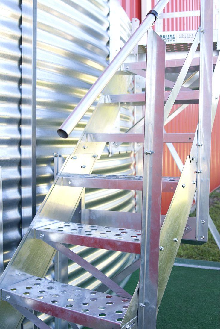 Best Easy Step Spiral Stairs Around Grain Bin Accessories 640 x 480