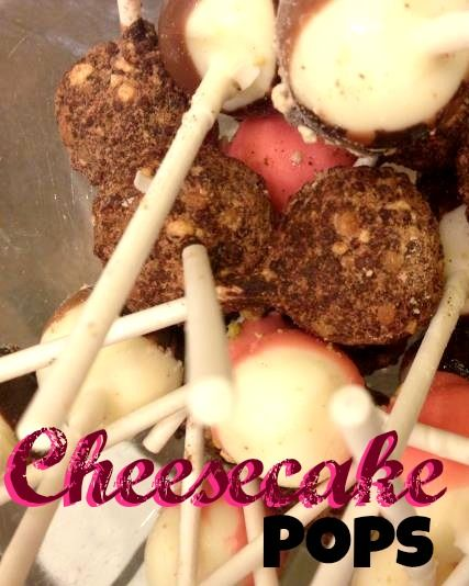 homemade cheesecake pops | cookies | Pinterest