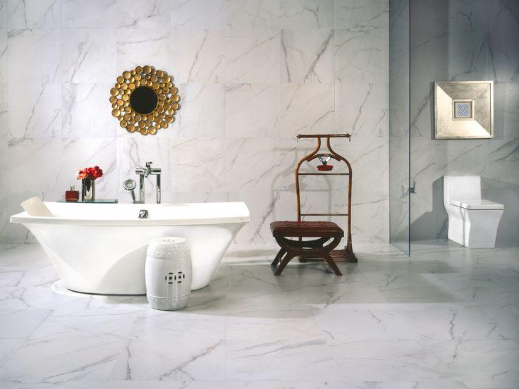 Azulejos Para Que El Baño Parezca Más Grande:que un baño pequeño parezca más grande, es importante no saturar el
