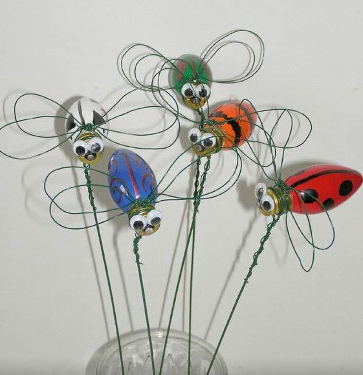 Recycled light bulb bugs light bulb craft pinterest